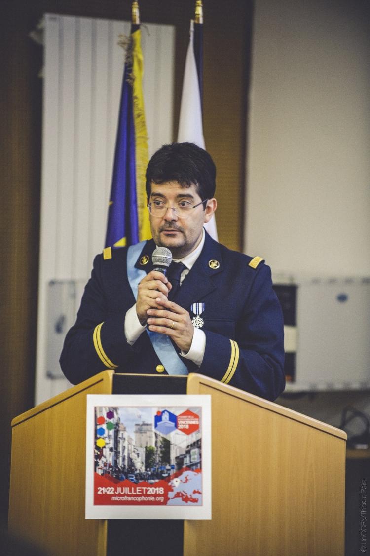 SMI Olivier en 2018, alors Secrétaire-général de l'OMF