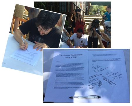 Signature du Traité d'Alcatraz