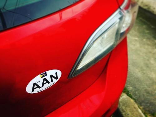Macaron pour véhicules angyalistanais