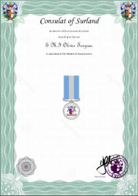 médaille du Gouvernement du Surland