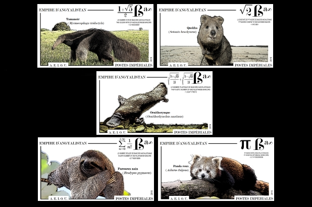 timbres - animaux nationaux