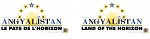 Logo du gouvernement angyalistanais (versions française et anglaise)