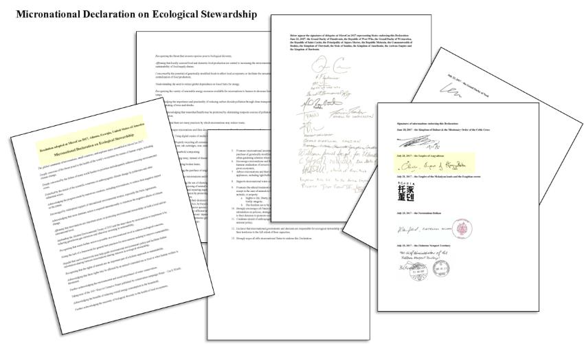 Micronational Declaration on Ecological Stewardship