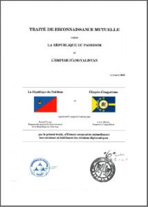 Traité entre l'Empire d'Angyalistan et la République du Padrhom