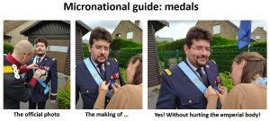 Remise de médaille - making of